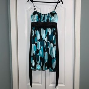 Le Chateau turquoise and black dress size sm